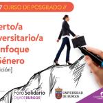 Curso de Posgrado Enfoque de Género Foro Solidario Caja de Burgos